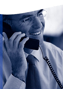 Photo of business man on phone